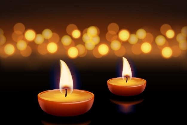 Bougies avec lumières