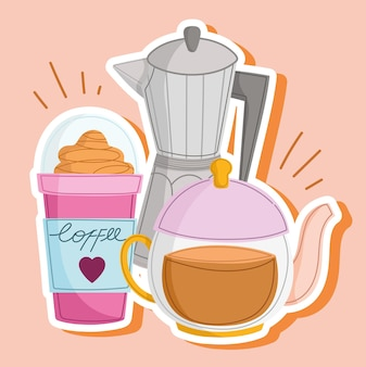 Bouilloire à café et frappe