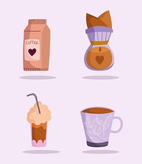 Bouilloire à café et produit