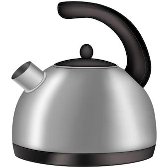 Bouilloire pour l'eau bouillante, illustration vectorielle