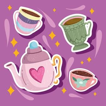 Bouilloire et tasses à café