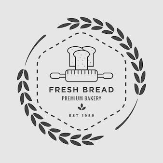 Boulangerie badge vector logo icône illustration
