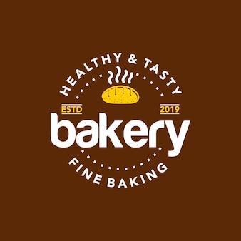 Boulangerie logo cercle badge timbre vecteur
