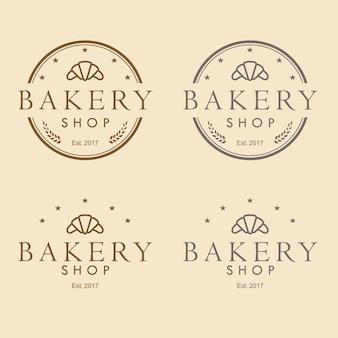 Boulangerie logo design vintage vector illustration icon set collection