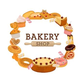 Boulangerie pâtisserie ronde.
