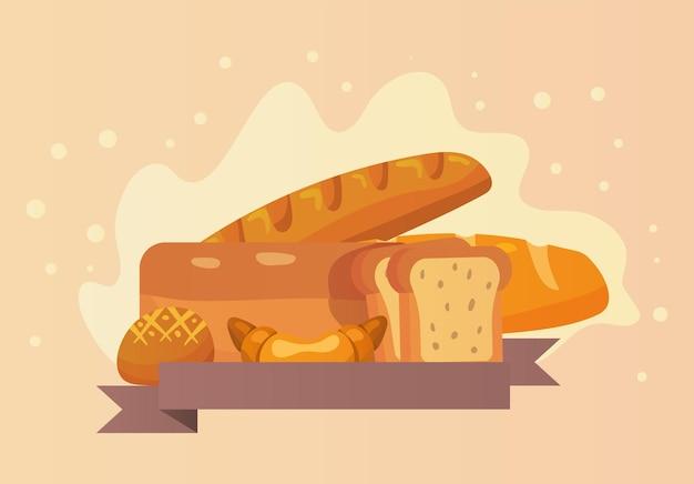 Boulangerie et ruban