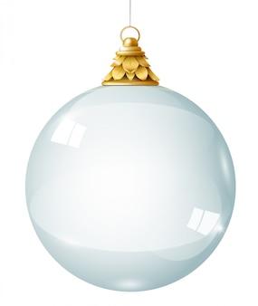 Boule de cristal guirlande en verre transparent