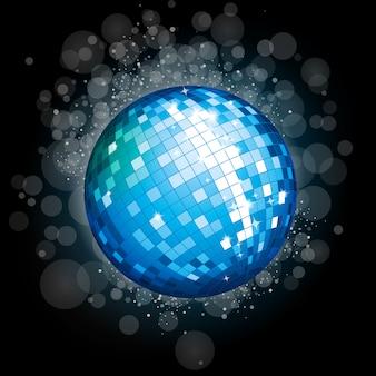 Boule disco bleue