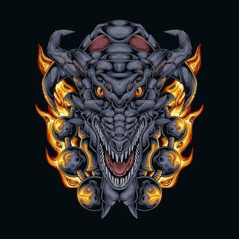 Boule de feu tête de dragon