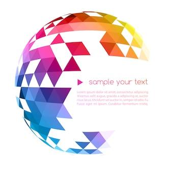 Boule géométrique colorée abstraite