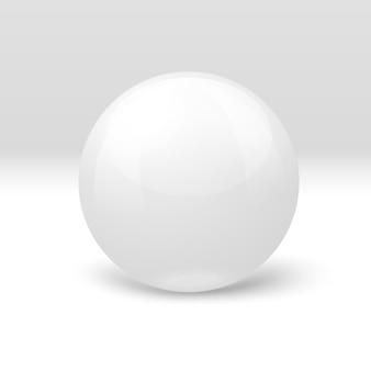Boule de marbre blanc réaliste 3d