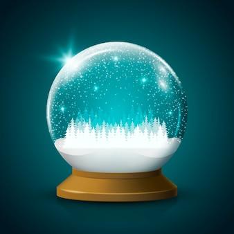 Boule de neige de noël réaliste