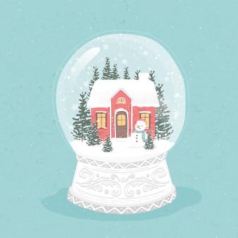 Boule de neige de noël vintage