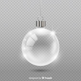 Boule de noël en cristal transparent