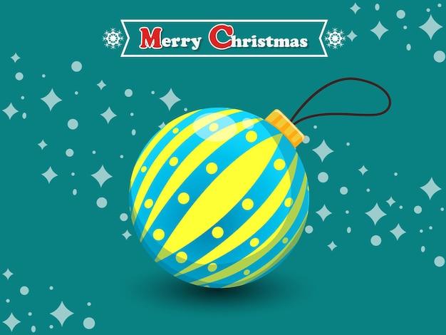 Boule de noël sur fond de couleur. bonne année et élément de décoration. illustration vectorielle