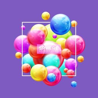 Boules décoratives multicolores