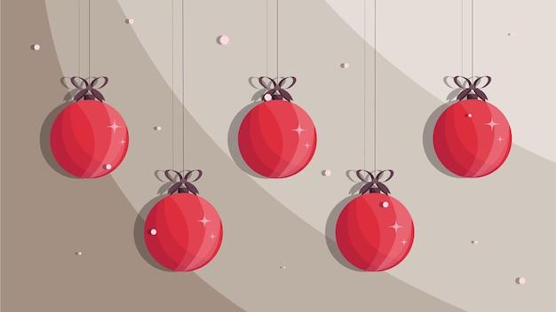 Boules de noël ensemble de boules de noël fond de noël