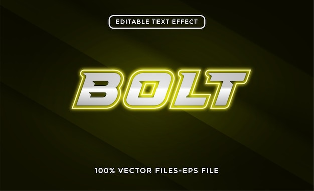 Boulons de vecteurs d'effets de texte modifiables