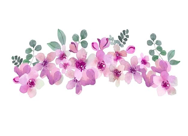 Bouquet d'aquarelle aux couleurs roses