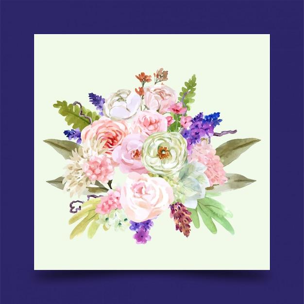 Un bouquet décoratif d'hiver de fleurs roses pour la conception