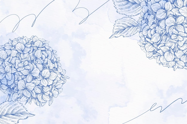 Bouquet de fleurs fond pastel en poudre dessiné à la main