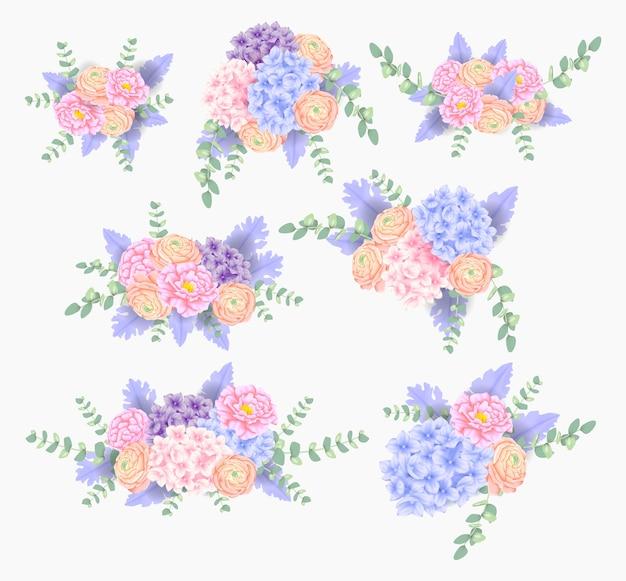Bouquet de fleurs avec hortensia