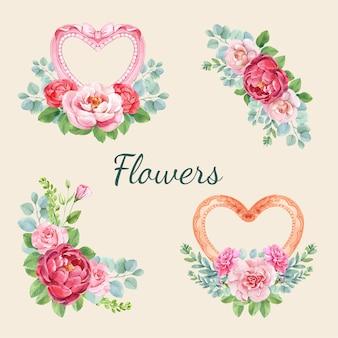 Bouquet de fleurs pour la fête des mères heureuse