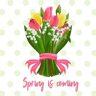 Un bouquet de fleurs de printemps