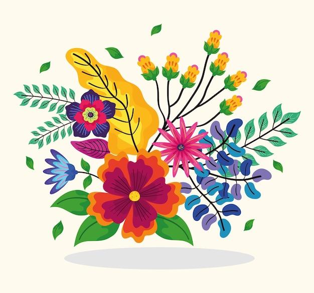 Bouquet de fleurs tropicales