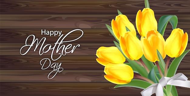 Bouquet de fleurs de tulipes jaunes