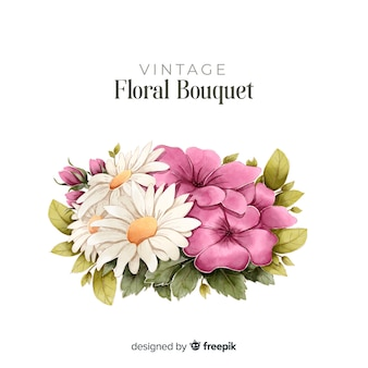 Bouquet floral dessiné à la main