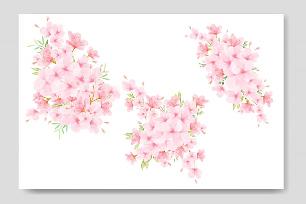 Bouquet floral de fleurs de cerisier
