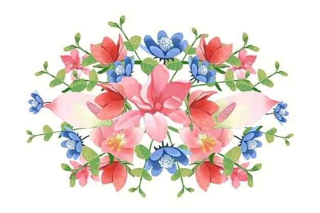 Bouquet floral vintage coloré