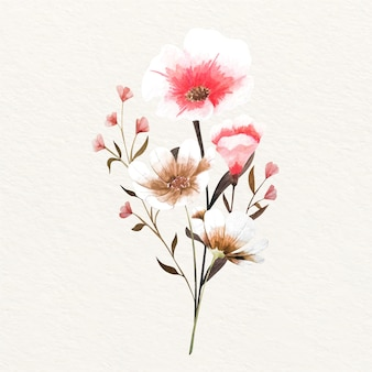 Bouquet floral vintage en fleurs