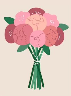 Bouquet de renoncule rose.