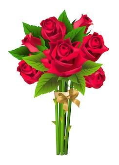 Bouquet de roses. bouquet, présent, datation. concept de la saint-valentin.