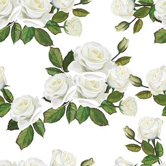 Bouquet de roses couleur blanche et rose