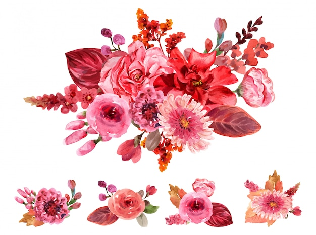 Bouquet rouge.