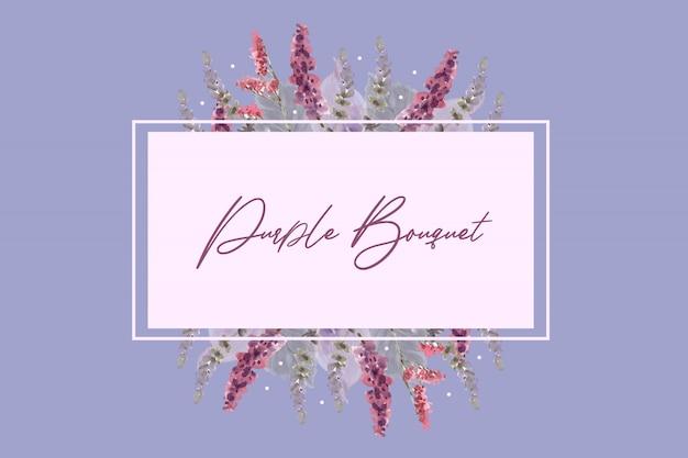 Bouquet violet dans un style aquarelle