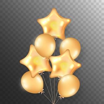 Bouquet volant de ballons dorés pour mariage, anniversaire, fêtes.