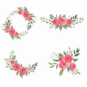 Bouquets d'aquarelle pour la décoration de mariage