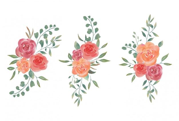 Bouquets d'aquarelle pour mariages