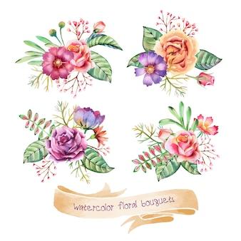 Bouquets d'aquarelle