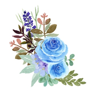Bouquets d'aquarelles florales