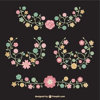 Bouquets de fleurs vecteur libre