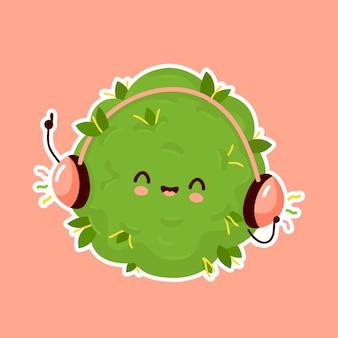 Bourgeon de marijuana écouter de la musique