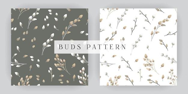 Bourgeons seamless pattern