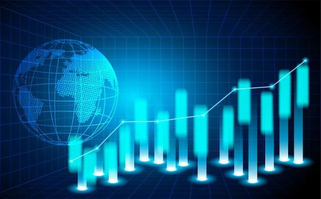 Bourse et échange de monde.