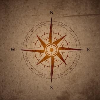 Boussole de navigation rétro
