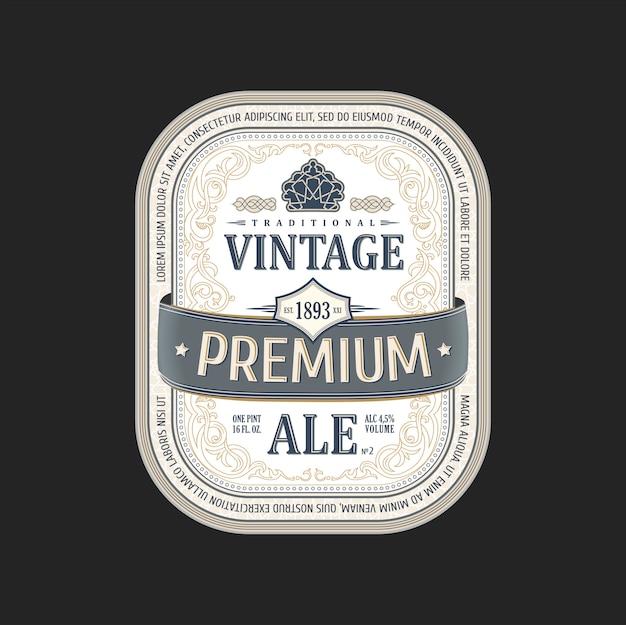 Bouteille de bière autocollant vintage